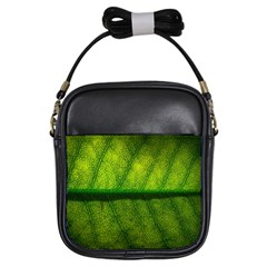Leaf Nature Green The Leaves Girls Sling Bags