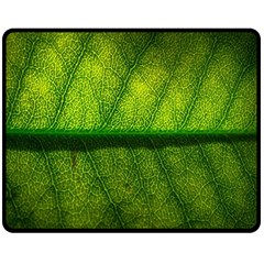 Leaf Nature Green The Leaves Fleece Blanket (medium)