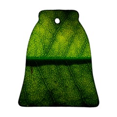 Leaf Nature Green The Leaves Bell Ornament (two Sides)