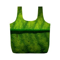 Leaf Nature Green The Leaves Full Print Recycle Bags (m)