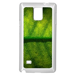 Leaf Nature Green The Leaves Samsung Galaxy Note 4 Case (white)