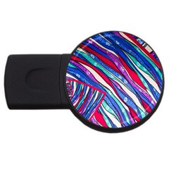 Texture Pattern Fabric Natural Usb Flash Drive Round (4 Gb)