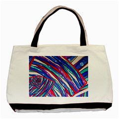 Texture Pattern Fabric Natural Basic Tote Bag (two Sides)