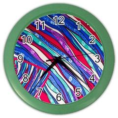 Texture Pattern Fabric Natural Color Wall Clocks by Nexatart