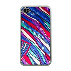 Texture Pattern Fabric Natural Apple Iphone 4 Case (clear)