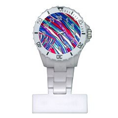 Texture Pattern Fabric Natural Plastic Nurses Watch