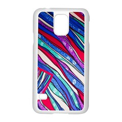 Texture Pattern Fabric Natural Samsung Galaxy S5 Case (white)