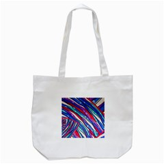 Texture Pattern Fabric Natural Tote Bag (white)