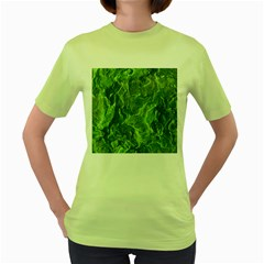 Geological Surface Background Women s Green T Shirt