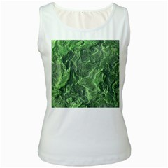 Geological Surface Background Women s White Tank Top