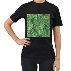 Geological Surface Background Women s T Shirt (black) (two Sided)