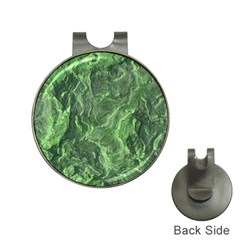 Geological Surface Background Hat Clips With Golf Markers