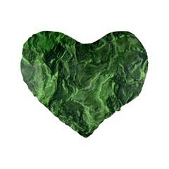 Geological Surface Background Standard 16  Premium Flano Heart Shape Cushions