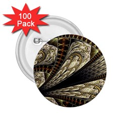 Fractal Abstract Pattern Spiritual 2 25  Buttons (100 Pack)