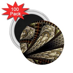 Fractal Abstract Pattern Spiritual 2 25  Magnets (100 Pack)