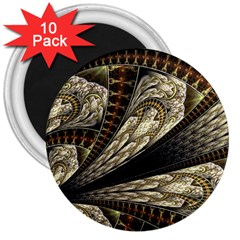 Fractal Abstract Pattern Spiritual 3  Magnets (10 Pack)