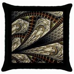 Fractal Abstract Pattern Spiritual Throw Pillow Case (black)