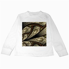Fractal Abstract Pattern Spiritual Kids Long Sleeve T Shirts