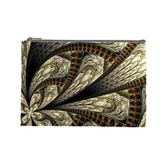 Fractal Abstract Pattern Spiritual Cosmetic Bag (large)