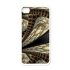 Fractal Abstract Pattern Spiritual Apple Iphone 4 Case (white)