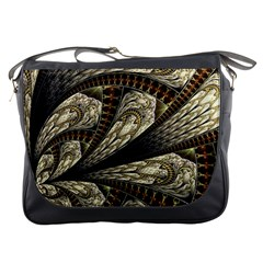 Fractal Abstract Pattern Spiritual Messenger Bags