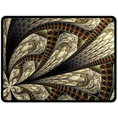 Fractal Abstract Pattern Spiritual Double Sided Fleece Blanket (large)