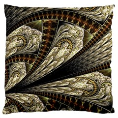 Fractal Abstract Pattern Spiritual Large Flano Cushion Case (one Side)