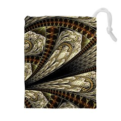 Fractal Abstract Pattern Spiritual Drawstring Pouches (extra Large)