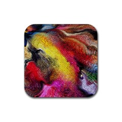Background Art Abstract Watercolor Rubber Square Coaster (4 Pack)