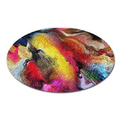 Background Art Abstract Watercolor Oval Magnet