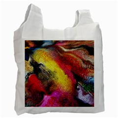 Background Art Abstract Watercolor Recycle Bag (two Side)