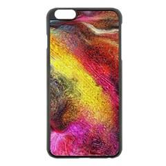 Background Art Abstract Watercolor Apple Iphone 6 Plus/6s Plus Black Enamel Case