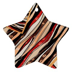 Fabric Texture Color Pattern Ornament (star)