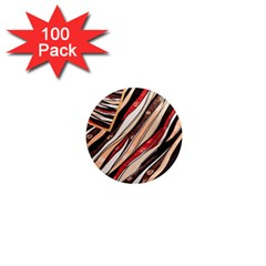 Fabric Texture Color Pattern 1  Mini Magnets (100 Pack)