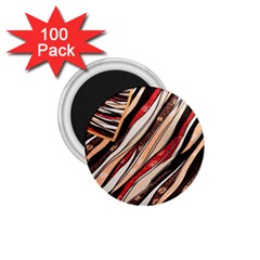 Fabric Texture Color Pattern 1 75  Magnets (100 Pack)