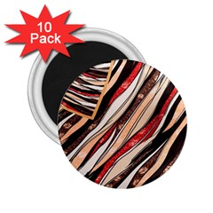 Fabric Texture Color Pattern 2 25  Magnets (10 Pack)