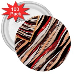 Fabric Texture Color Pattern 3  Buttons (100 Pack)