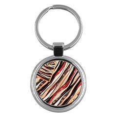 Fabric Texture Color Pattern Key Chains (round)