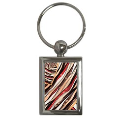 Fabric Texture Color Pattern Key Chains (rectangle)