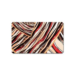 Fabric Texture Color Pattern Magnet (name Card)