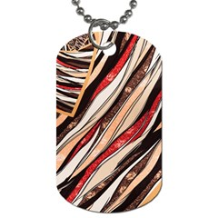 Fabric Texture Color Pattern Dog Tag (two Sides)