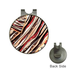 Fabric Texture Color Pattern Hat Clips With Golf Markers