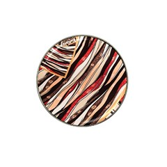 Fabric Texture Color Pattern Hat Clip Ball Marker (4 Pack)