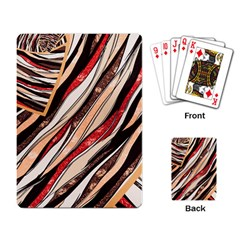 Fabric Texture Color Pattern Playing Card