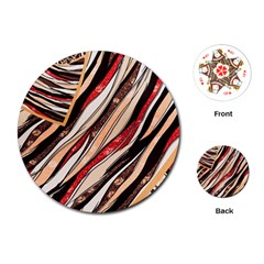 Fabric Texture Color Pattern Playing Cards (round)