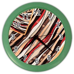 Fabric Texture Color Pattern Color Wall Clocks