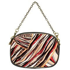 Fabric Texture Color Pattern Chain Purses (one Side)