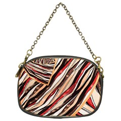 Fabric Texture Color Pattern Chain Purses (two Sides)