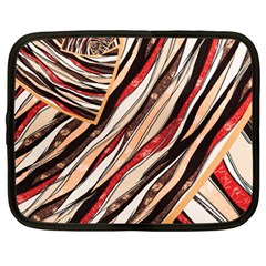 Fabric Texture Color Pattern Netbook Case (xl)