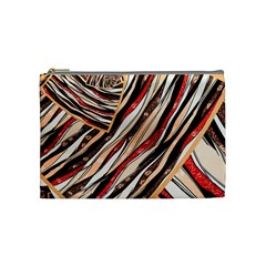 Fabric Texture Color Pattern Cosmetic Bag (medium)